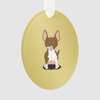Brown White Chihuahua Angel Ornament