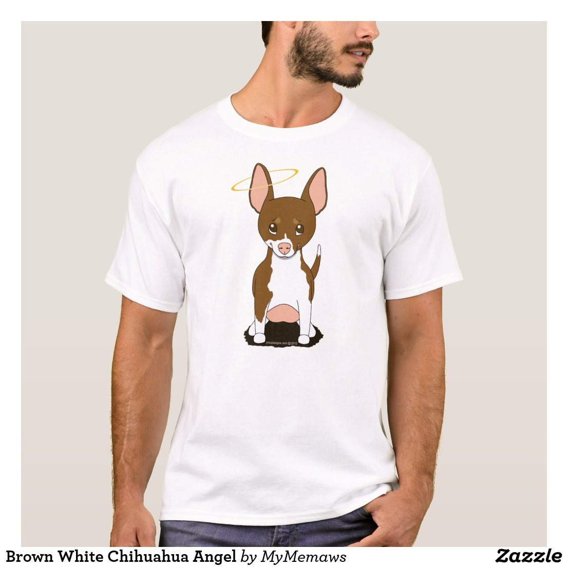 Brown and White Chihuahua Angel T-shirt