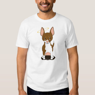Brown White Chihuahua Angel T-shirts