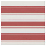 [ Thumbnail: Brown & White Colored Lines Pattern Fabric ]