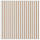 [ Thumbnail: Brown & White Colored Striped/Lined Pattern Fabric ]