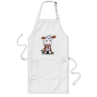 Brown & White Cow Aprons
