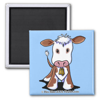 Brown & White Cow Refrigerator Magnets