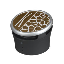 Brown & White Giraffe Animal Print Speaker