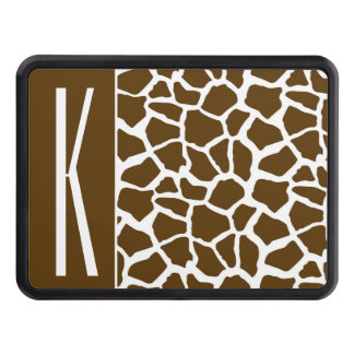 Brown & White Giraffe Animal Print Tow Hitch Cover
