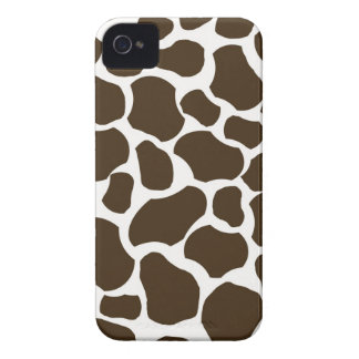 Brown White Giraffe Spots Print iPhone 4 Case-Mate iPhone 4 Cases