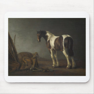 Brown & White Horse Mouse Pad