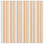 [ Thumbnail: Brown & White Pattern Fabric ]