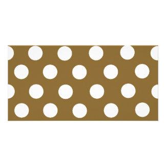 Brown & White Polka Dots Card