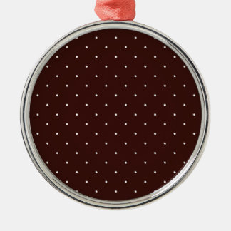 Brown & White Polka Dots Christmas Ornaments