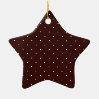Brown & White Polka Dots Christmas Tree Ornament