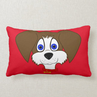 Brown & White Puppy Rectangle Pillow
