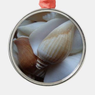 brown/white seashells christmas tree ornaments