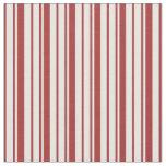 [ Thumbnail: Brown & White Stripes/Lines Pattern Fabric ]