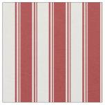 [ Thumbnail: Brown & White Stripes Pattern Fabric ]