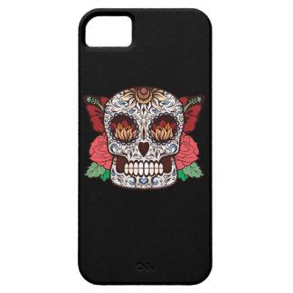 Brown White Tattoo Sugar Skull Pink Roses iPhone SE/5/5s Case