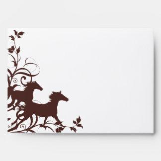 Brown Wild Horses Envelope