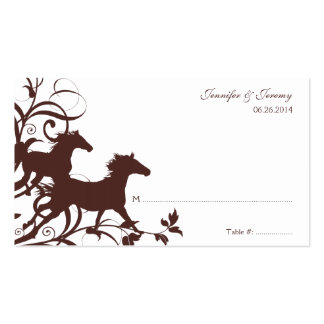 Brown Wild Horses Seating Card