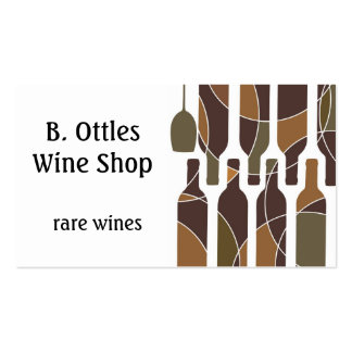 Brown wine bottle pattern double sided card business card