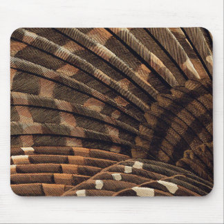 Brown Wing Detail Mouse Pad