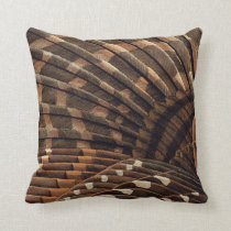 Brown Wing Detail Throw Pillow
