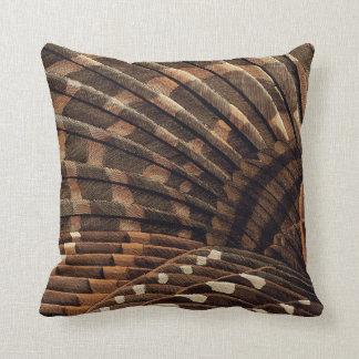 Brown Wing Detail Throw Pillow