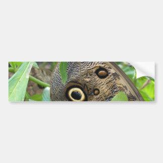Brown Winged Butterfly Bumper Sticker