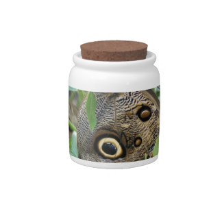 Brown Winged Butterfly Candy Jar