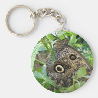 Brown Winged Butterfly Keychain