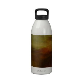 Brown wiping sample with colour tone water bottle