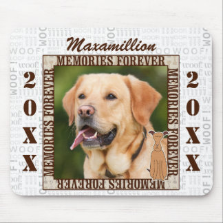 Brown with Dog Word Art Pet Memorial Photo Mouse Pad