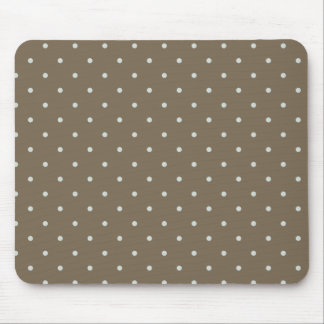 Brown With Light Blue Polka Dots Mouse Pad