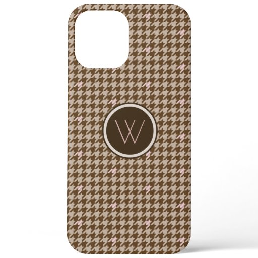 Brown with Rose Gold Houndstooth Case-Mate Case