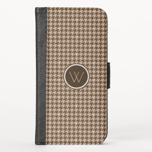 Brown with Rose Gold Houndstooth Smartphone Case