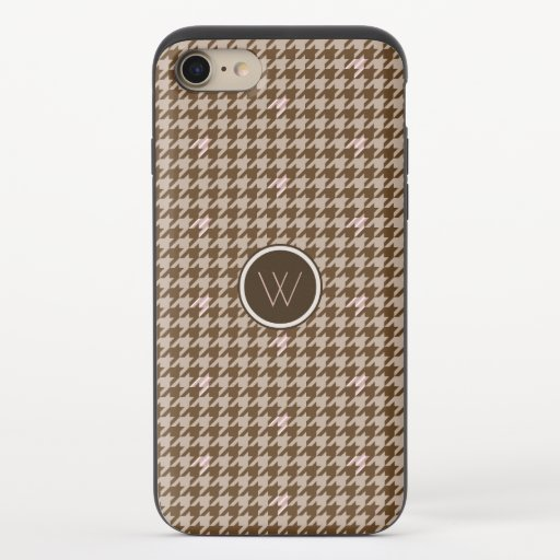 Brown with Rose Gold Houndstooth Uncommon Case