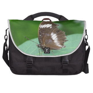 Brown with With White Flashes Butterfly Computer Bag