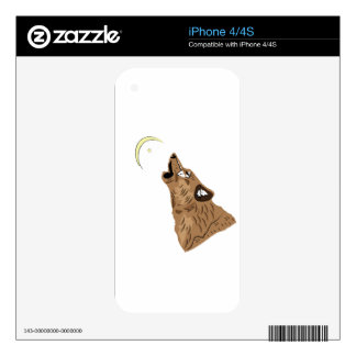 Brown Wolf Decal For iPhone 4