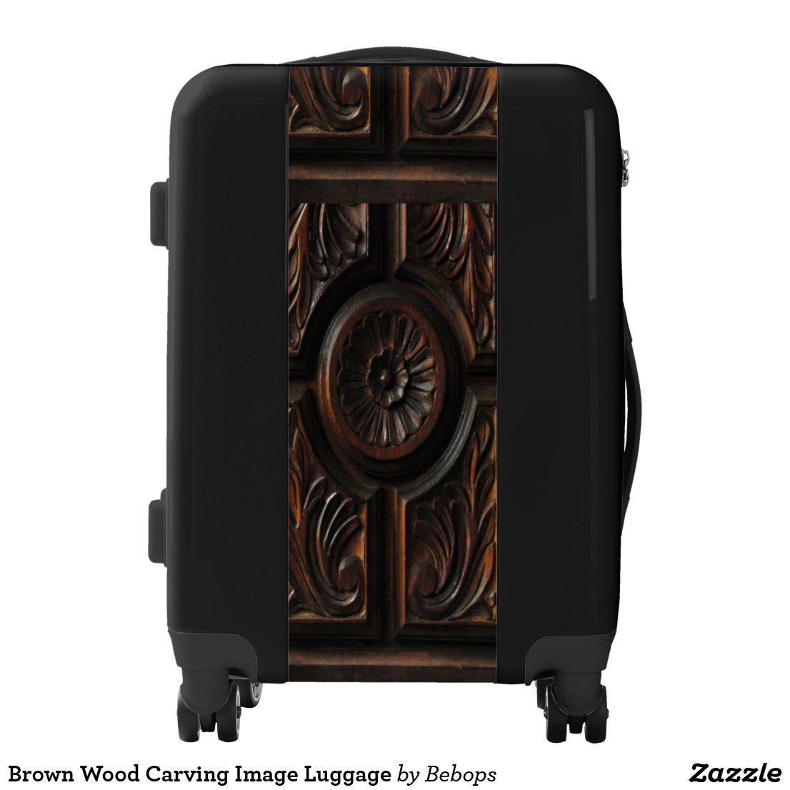 Brown Wood Carving Image Luggage