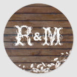 Brown Wood Planks Seals Sticker