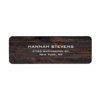 Brown Wood Texture Professional Elegant Modern Label