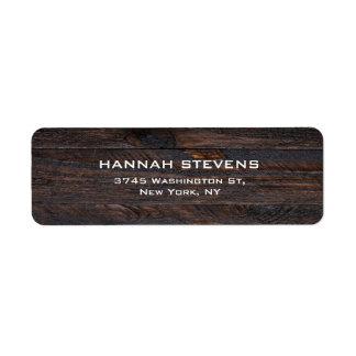 Brown Wood Texture Professional Elegant Modern Label