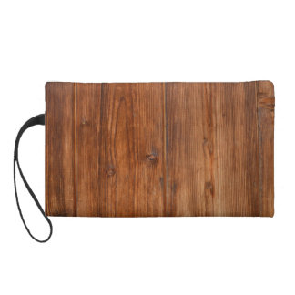 Brown Wood Wall Texture Structure Wristlet
