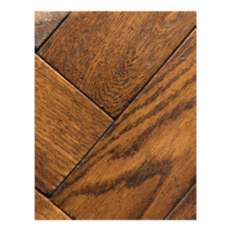 Brown Wooden Parquet Floor Letterhead