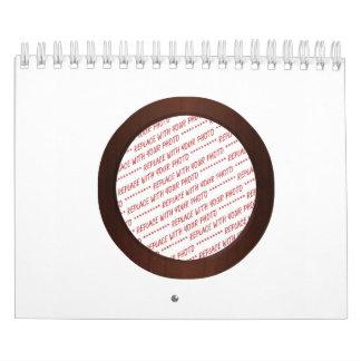 Brown Wooden Photo Frame Template Calendar