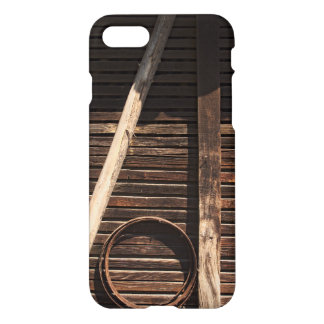 Brown Wooden Planks Barn Wall - rural photography iPhone 8/7 Case
