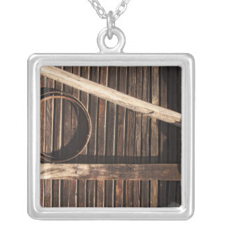 Brown Wooden Planks Barn Wall - rural photography Jewelry