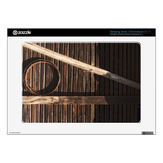 Brown Wooden Planks Barn Wall - rural photography Samsung Chromebook Decals