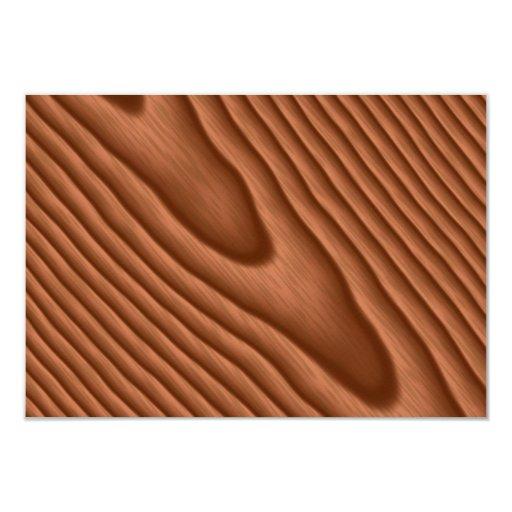 Brown Woodgrain Textured Announcement