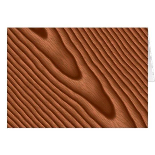 Brown Woodgrain Textured Card
