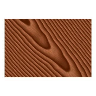 Brown Woodgrain Textured Poster